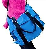 Youchan(ヨウチャン) トートバッグ レディース 2way 斜め掛け マザーズ ショルダー 大きい たっぷり ポケット ママバッグ エコ 旅行 アウトドア カジュアル 鞄 かばん 小物 (ブルー)