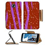 MSD Premium Motorola Google Nexus 6 Flip Pu Leather Wallet Case closeup of photo computer generated animal skins texture spots IMAGE 30240637