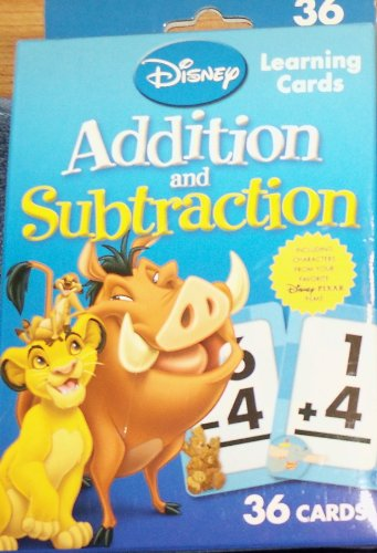 Disney Learning Addition and Subtraction Learning Game Cards