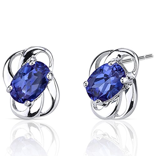 Created-Sapphire-Earrings-Sterling-Silver-200-Carats