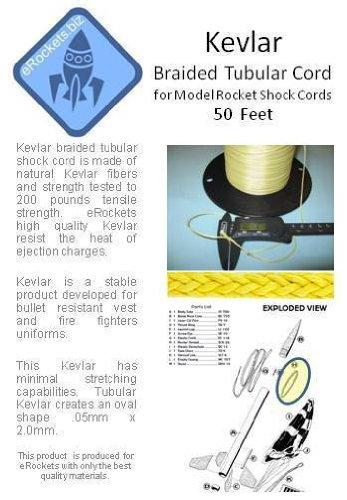 eRockets 200# Kevlar 50 foot piece