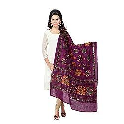 Banjara WomenS Cotton Stoles & Dupattas Kutchi Chakachak (Chk10 _Magenta Violet _Handicraft Dupatta_Free Size)