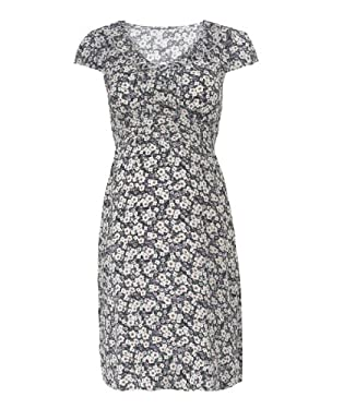 Maternity Floral Frill Collar Tea Dress