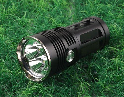 Nitefire!Bright Torch Black Led 5000 Lumens 4 Cree Xm-L T6 Led Flashlight 18650