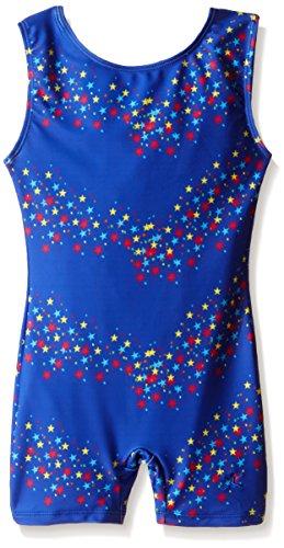 Danskin Little Girls' Gymnastics Sparkle Shortall, Royal Star, Small
