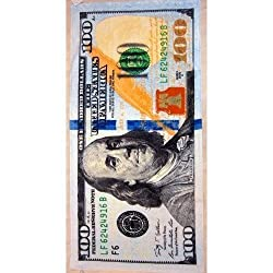 New 100 Dollar Bill Velour Beach Towel 30 X60 - MADE IN BRAZIL