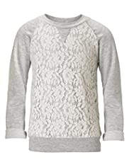 Floral Lace Sweat Top