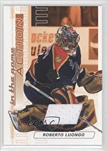 Roberto Luongo #1 1 (Hockey Card) 2003-04 ITG Action Jerseys Montreal Expo #M166 by ITG+Action