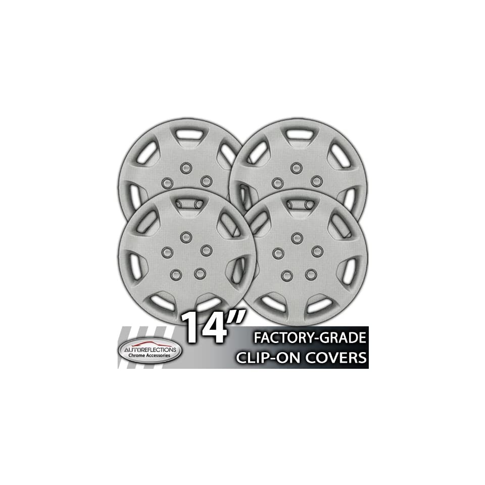 14 Universal Snap On Silver Wheel Hubcap Covers