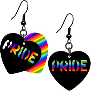 Rainbow Pride Heart Earrings