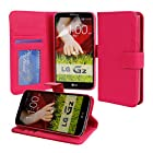 Abacus24-7 [PocketBook] Leather Wallet Case & Cover for LG G2 [At&T, Sprint, T-Mobile], Pink