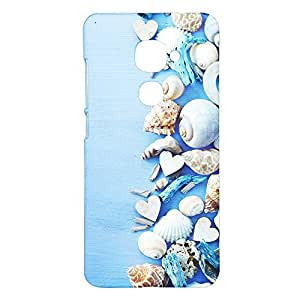 Fancy Interio Designer Printed Hard Back Case Cover For Letv Le 2 - Decorative Seashells & Coral Design.