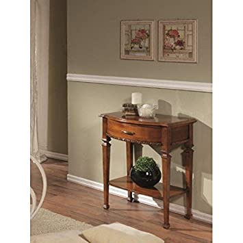 1 Drawer Wooden Console Table with Walnut Finish Bassano – codluis 906