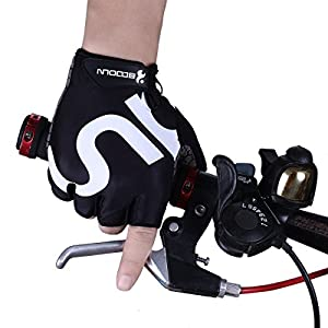 Dreampark Cycling Gloves Riding Gloves Mountain Bike Gloves Road Racing Bicycle Gloves Half Finger Biking Gloves with Gel Pad Breathable Shock-absorbing for Men/Women (Black, Small) by Dreampark