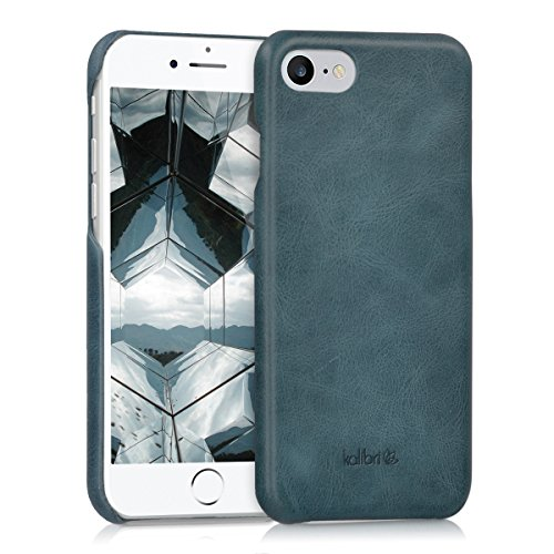 kalibri-Echtleder-Backcover-Hlle-fr-Apple-iPhone-7-Leder-Case-Cover-Schutzhlle-in-Dunkelblau