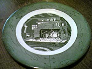 Colonial Homestead-Green Dinner Plate By Royal (USA)