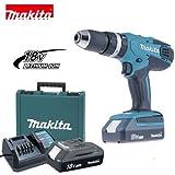 Trapano avvitatore a batteria c/percussione 18V Litio c/batteria di riserva Makita - HP457DWE (Cod.:4119)