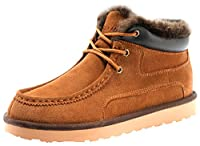 Rock Me Men's Fashion Genuine Leather Short Snow Boots