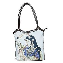 fatangbag Womens Handbag (off white /Brown) (fbksa0043ow)