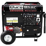 Durostar DS10000E 16 HP Gasoline Powered Electric Start Portable Generator with Wheel Kit, 10000-watt, EPA Approved