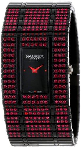 Haurex Italy NX368DNR - Reloj analógico de cuarzo para mujer con correa de plástico, color negro