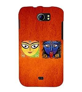Kali Bhajan Maa Kali Kolkatta Wali 3D Hard Polycarbonate Designer Back Case Cover for Micromax Canvas 2 A110 :: Micromax Canvas 2 Plus A110Q
