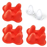 Fondant Candy Mold - Halloween Party Ghost Silicone Mold Ice Cube Molds Set Of 3 (Color: Ghost, Tamaño: 4.7 x 3.9 x 2 inches)