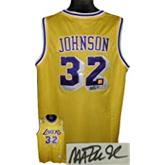 Magic Johnson Autographed Hand Signed Los Angeles Lakers Yellow Authentic Adidas...