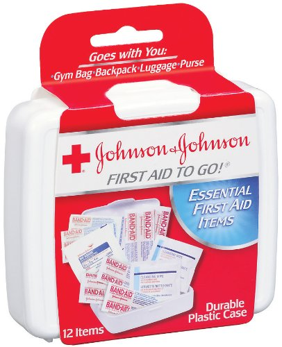 Johnson & Johnson Products Mini First Aid Kit (Pack of 12 Pieces)