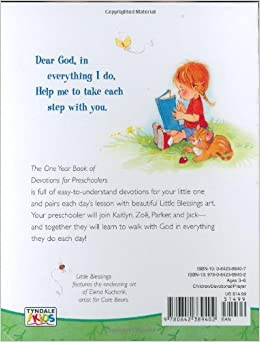devotions for preschoolers the one year devotions for preschoolers blessings 579