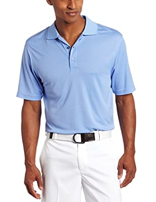 IZOD Men's Basic Short Sleeve Solid Grid Golf Polo