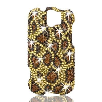 Talon Full Diamond Bling Phone Shell for HTC MyTouch Slide 3G (Leopard - Yellow)