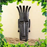 Chinhhari Arts Tribal Wrought Iron Tribal Mask ( Black, 44.45 cm x 13.97 cm )