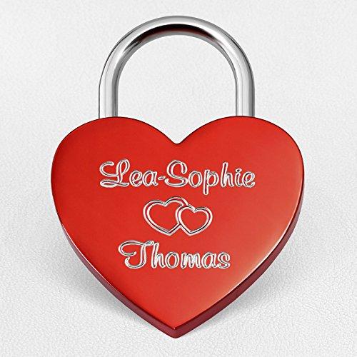 Herz-Liebesschloss-Rot-60x45mm--Schloss-in-Herzform-mit-Wunsch-Gravur-beidseitig--inkl-Geschenkbeutel-Geschenkbox-und-Geschenkkarte