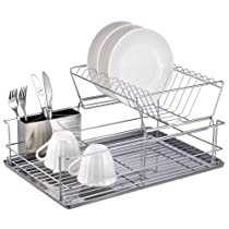 2 Tier Stainless Steel Dish Rack Case Pack 6