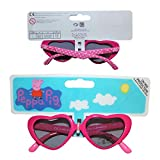 Kids Girls PEPPA PIG Character Sunglasses Heart Shape AGE 3+ UV PROTECTION EX STORE Official