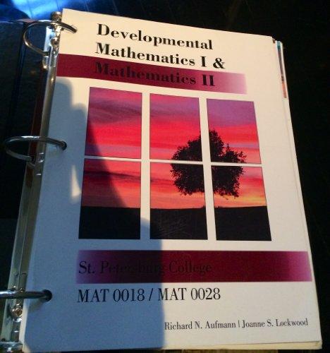 Developmental Mathematics 1 & 2 (Mat 0018/0028)
