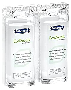 Delonghi EcoDecalk Mini-Packed with Two Convenient 100ml Single Doses by Delonghi