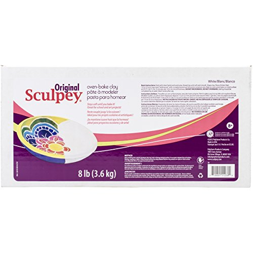 Sculpey Original Polymer Clay, 8-Pound, White (Sculpey Oven Bake Clay Kit compare prices)