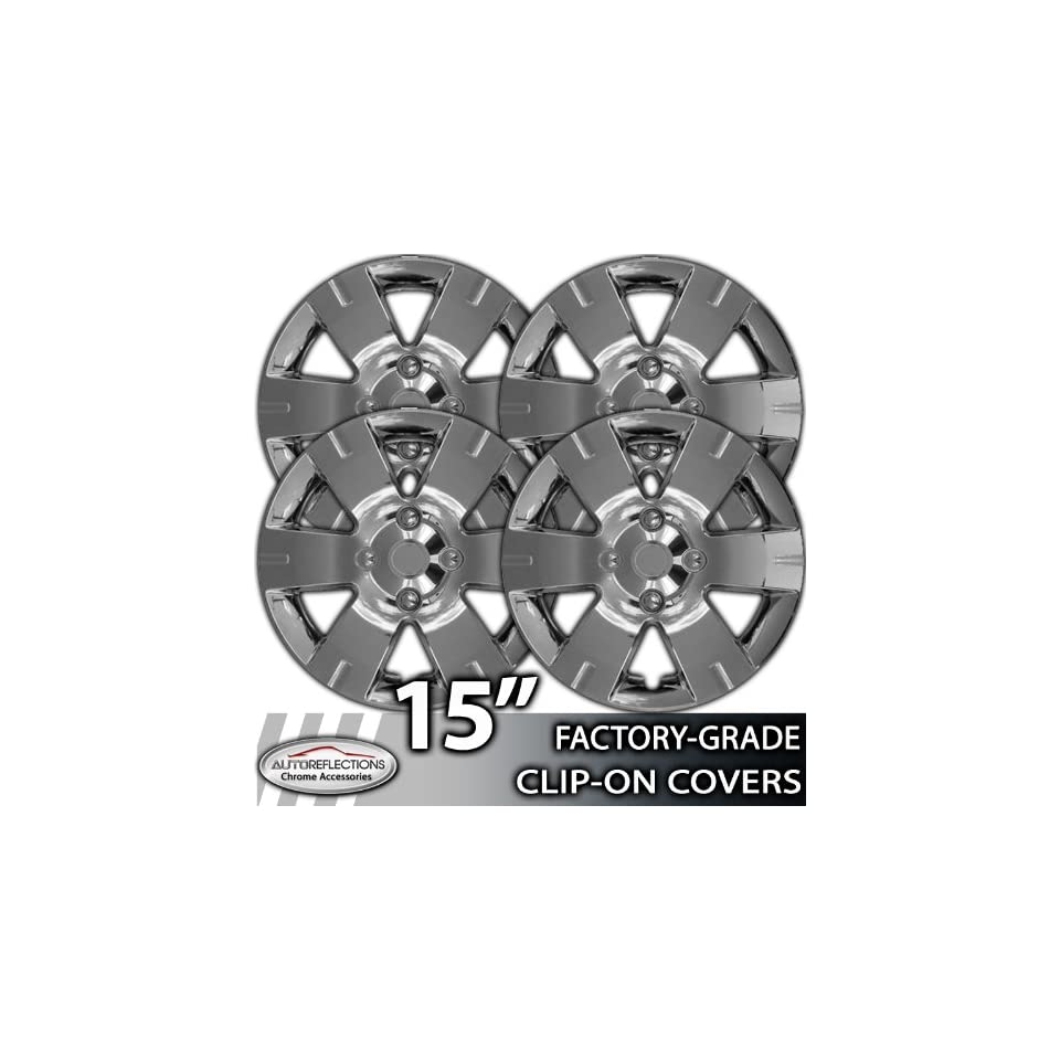 15 Universal Snap On Silver Wheel Hubcap Covers