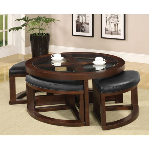 Buy Low Price Pieces Coffee Table With 4 Ottomans 3219pu 01 Coffee Table Bargain