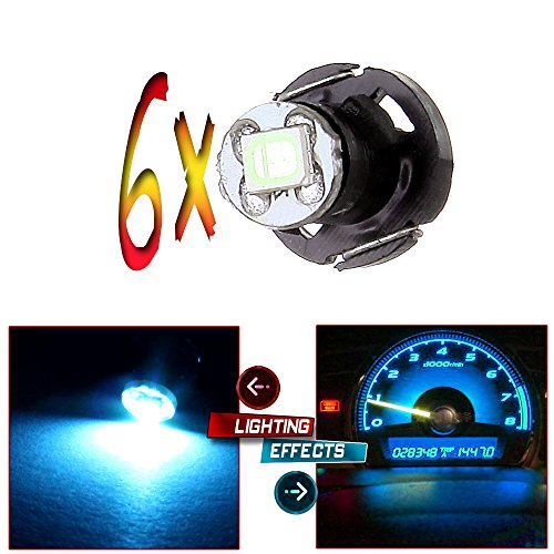 CCIYU 6x Ice Blue T4/T4.2 Neo Wedge Led Light Bulbs For Gauge Instrument HVAC Climate 1-2835-SMD Chips Light Bulbs For 2002-2011 Toyota Camry Matrix Tacoma Corolla etc. (2010 Dodge Caravan Center Console compare prices)