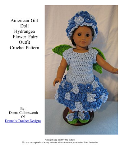 Hydrangea Flower Fairy Outfit for American Girl Dolls Crochet Pattern