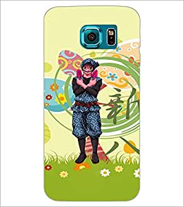 PrintDhaba Cartoon D-4615 Back Case Cover for SAMSUNG GALAXY S6 (Multi-Coloured)