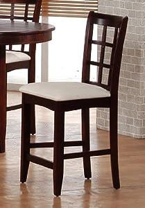 Counter Height Stools Amazon : Amazon.com - 2 Sunburst Oak Wood Counter Height Bar Stools Chairs ...
