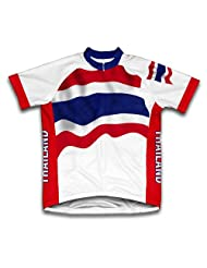 Thailand Flag Short Sleeve Cycling Jersey for Women