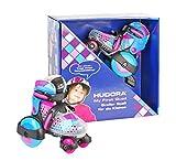 HUDORA 22014 pat�n - patines (Ni�os, Femenino, Negro, Azul, Rosa, Estampado, High boot, Blue/Pink)