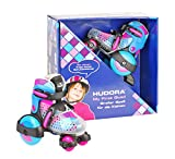 HUDORA 22014 patín - patines (Niños, Femenino, Negro, Azul, Rosa, Estampado, High boot, Blue/Pink)
