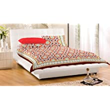 """Bed Cover With Pillow Cover 100% Cotton 90X108"""" Floral Double Bed Spread Double"""