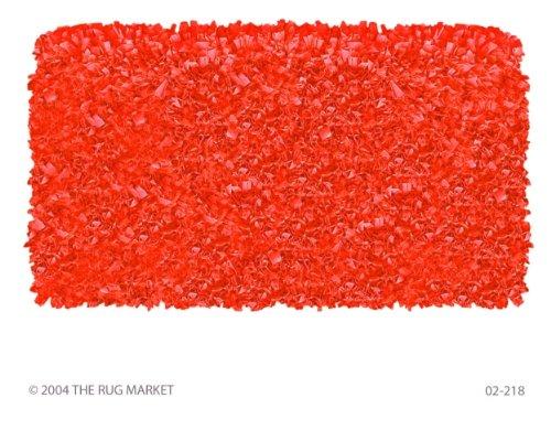 The Rug Market SHAGGY RAGGY TANGERINE TANGERINE 4X4 ROUND